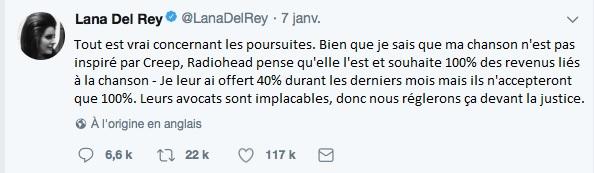 tweet lana del rey francais