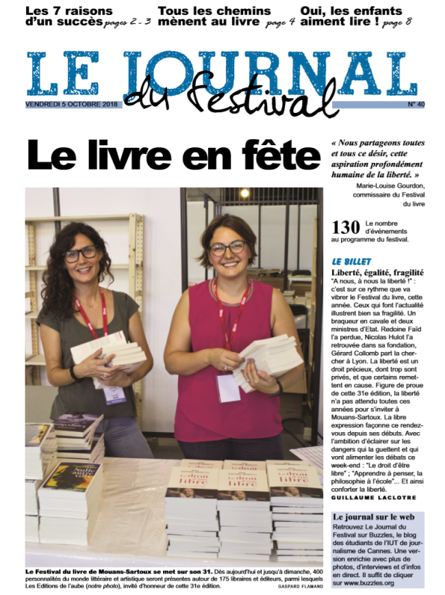 le journal du festival 5 octobre impression écran