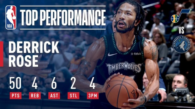 Derrick Rose match 50 points