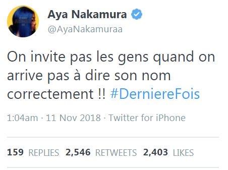 Yaka Nakamura tweet